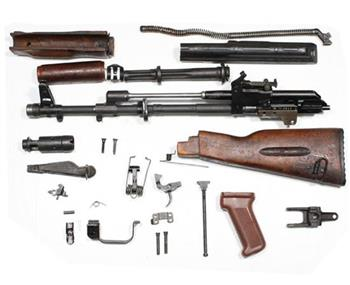 Bulgarian AK74 5.45 x 39 Wood Parts Kit With US Barrel
